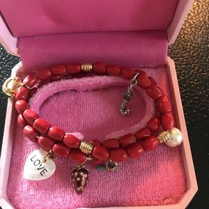 Juicy Couture 3 stretchy bracelets with charms